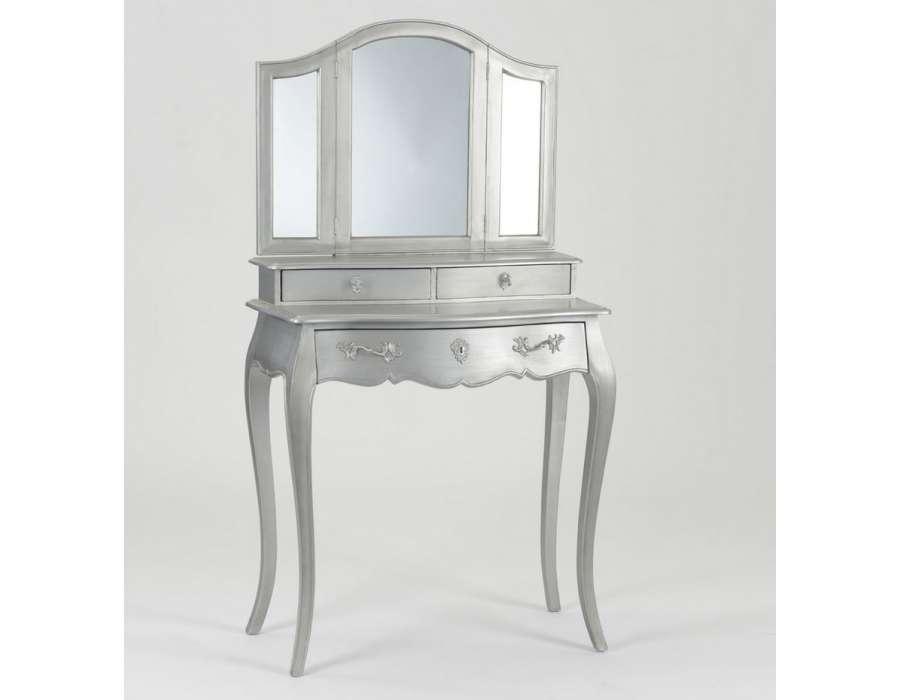 coiffeuse argent baroque. Black Bedroom Furniture Sets. Home Design Ideas