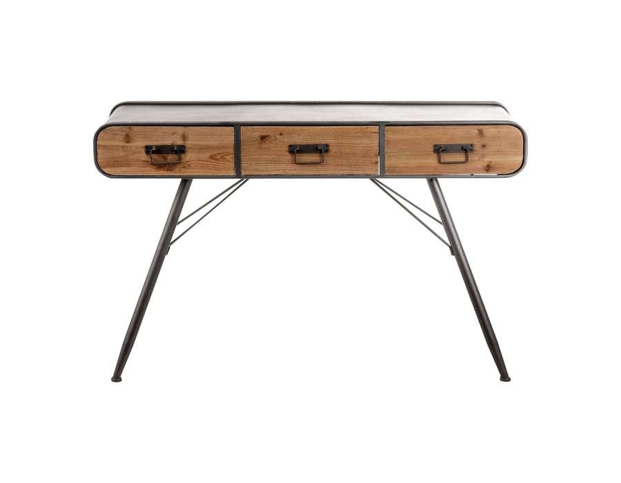 console retro vintage m tal et bois vical home. Black Bedroom Furniture Sets. Home Design Ideas