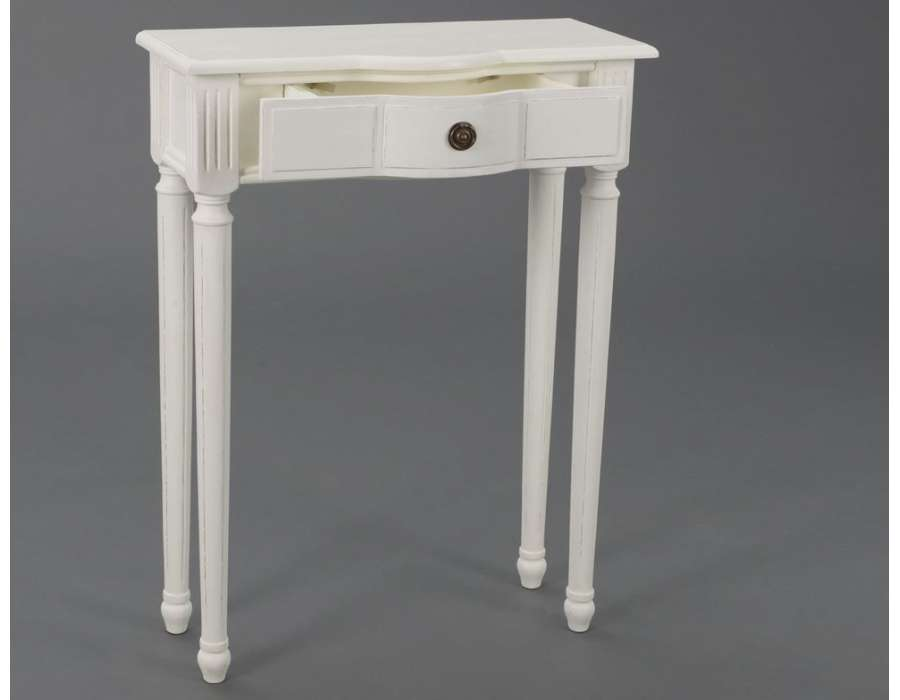 console entr e blanche 60 cm ou meuble entr e blanc avec. Black Bedroom Furniture Sets. Home Design Ideas