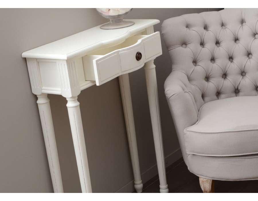 Petite console blanche 60 cm Agathe