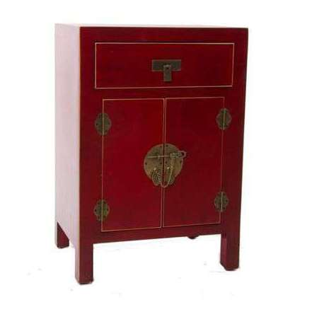 petit buffet chinois rouge 1porte meuble chinois pas cher. Black Bedroom Furniture Sets. Home Design Ideas