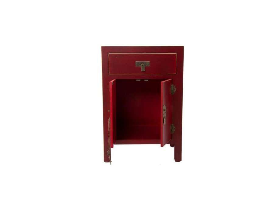 petit buffet chinois rouge 1porte meuble chinois pas cher. Black Bedroom Furniture Sets. Home Design Ideas