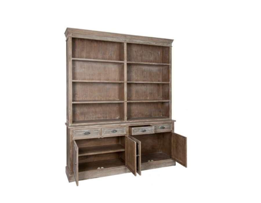 Grande bibliothèque bois cérusé Jolipa
