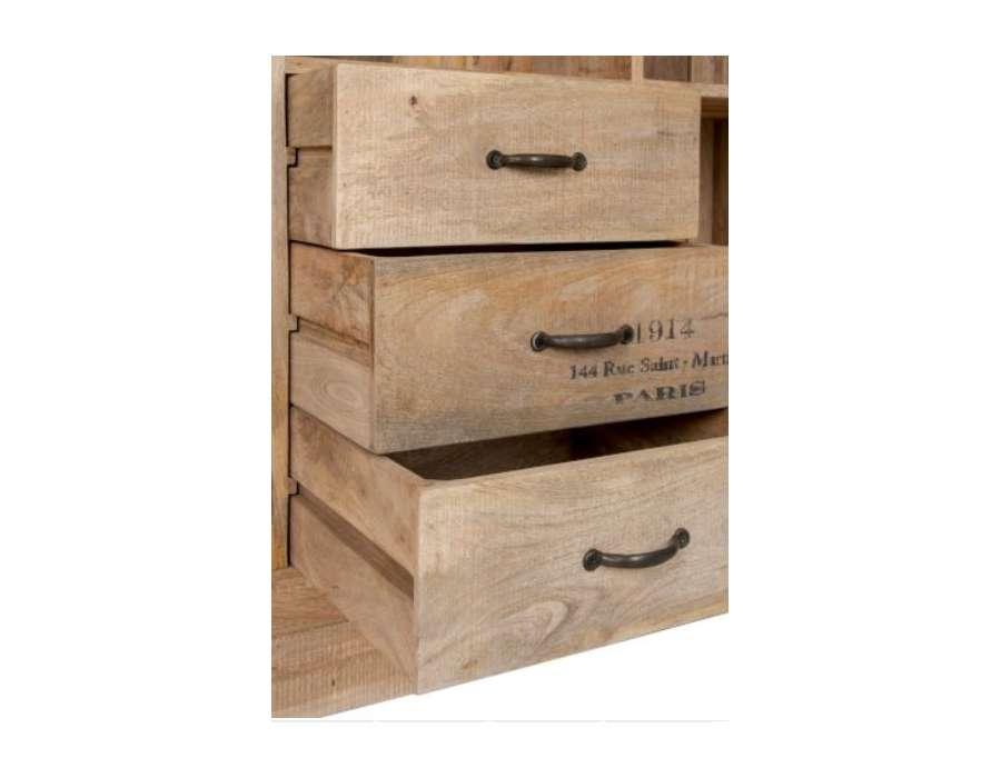 grand meuble biblioth que bois c rus avec casiers pas chere. Black Bedroom Furniture Sets. Home Design Ideas