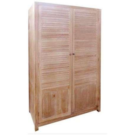 Grande armoire bois de chambre avec penderie for Armoire exterieur bois