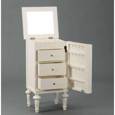 meuble romantique blanc bilioth que amandine en bois patin blanc meuble d 39 entr e leonie. Black Bedroom Furniture Sets. Home Design Ideas