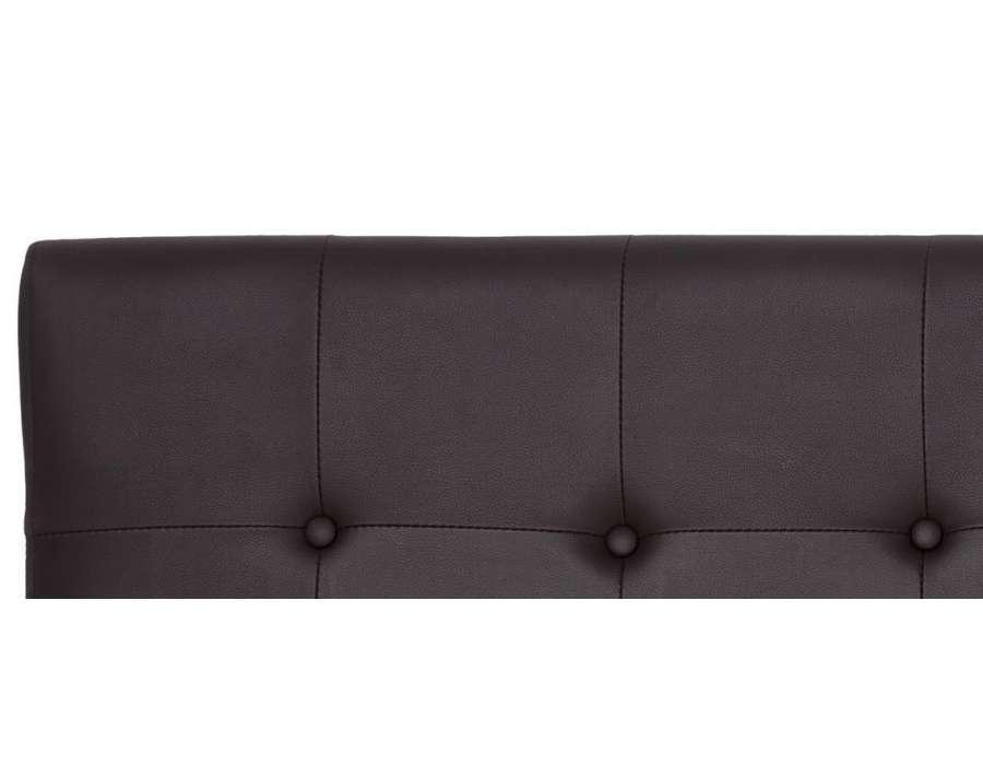 T te de lit simili cuir 160 cm chocolat - Tete de lit simili cuir gris ...