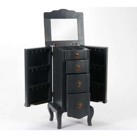 meuble pour bijoux baroque gris chic. Black Bedroom Furniture Sets. Home Design Ideas
