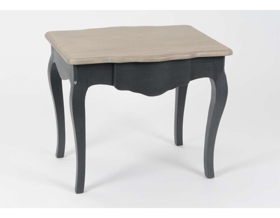 Petite table galbée grise canapé