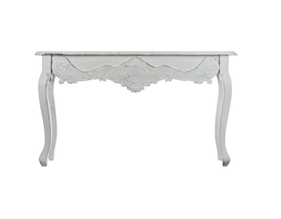 grande console baroque galb e blanche. Black Bedroom Furniture Sets. Home Design Ideas