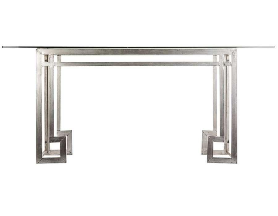 Grande table pour diner plateau verre design - Plateau verre pour table ...