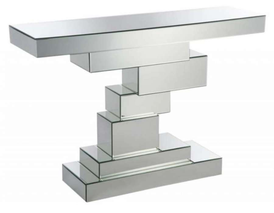 console miroir design en escalier jolipa. Black Bedroom Furniture Sets. Home Design Ideas