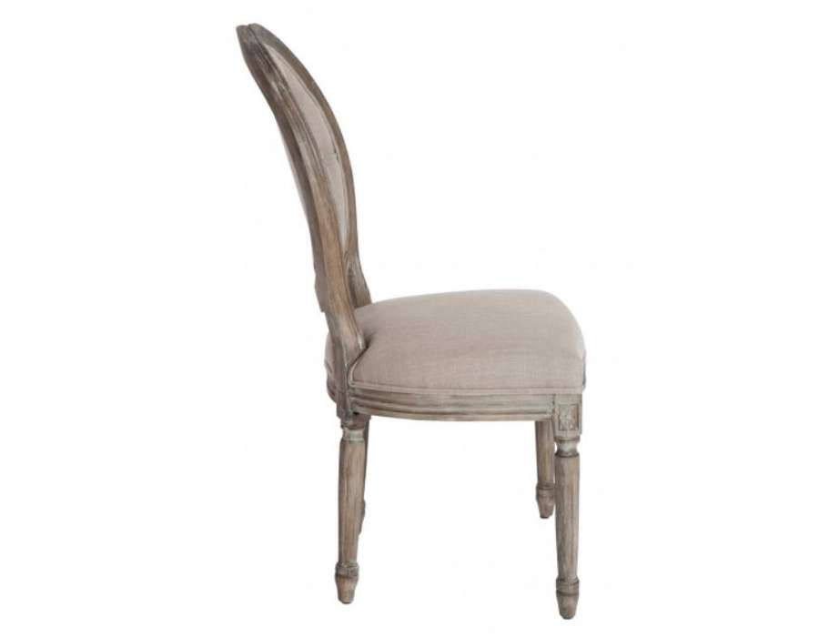 chaise m daillon bois c rus capitonn e taupe. Black Bedroom Furniture Sets. Home Design Ideas