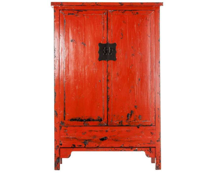 Meuble asiatique rouge maison design for Meuble asiatique