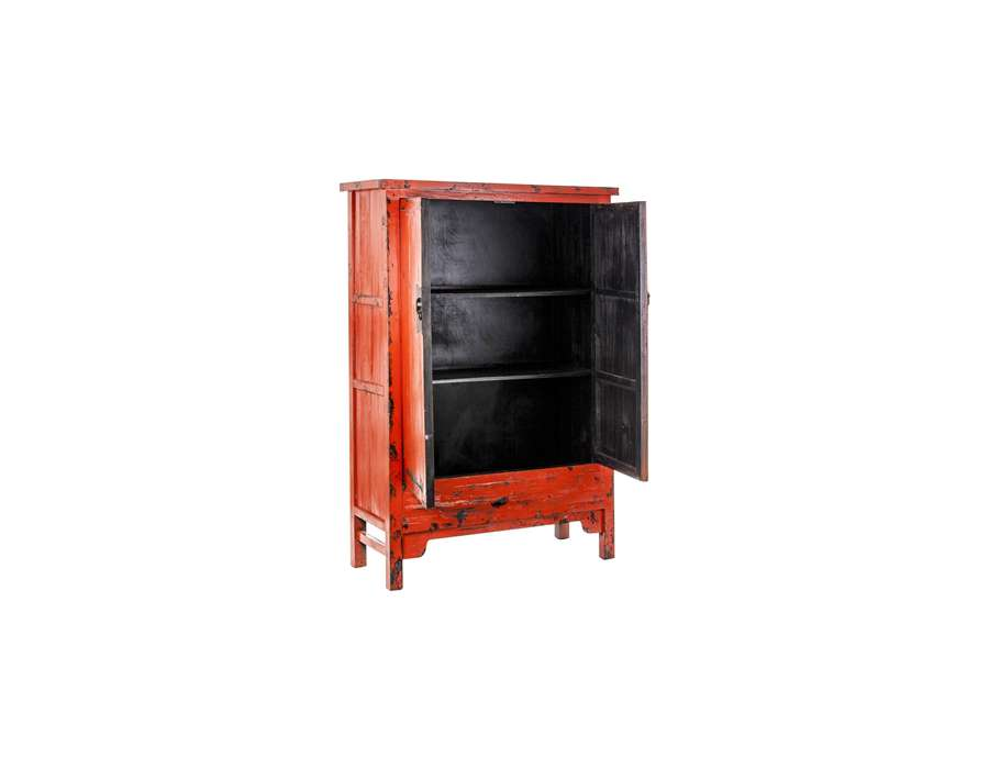 armoire chinoise rouge ancienne. Black Bedroom Furniture Sets. Home Design Ideas