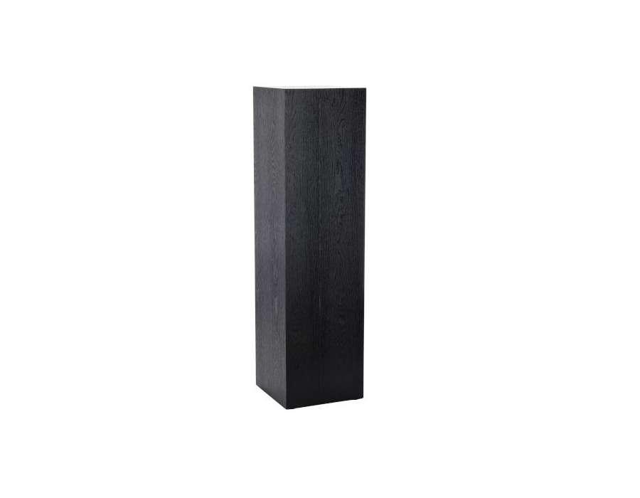 Sellette haute noire design 110 cm