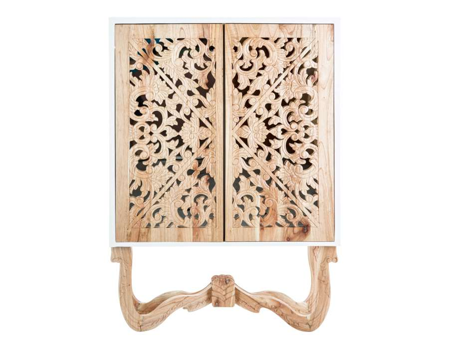 Armoire 2 portes bois design naturel