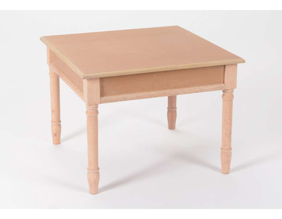 Peindre table basse ancienne for Table salon bois brut