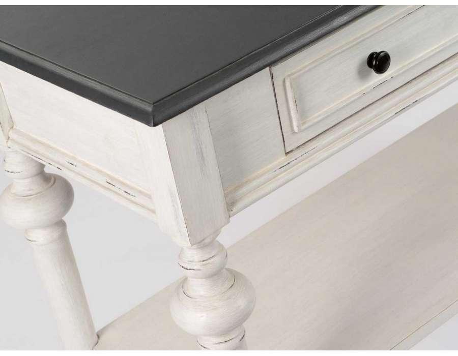 grande console grise 120 cm amadeus. Black Bedroom Furniture Sets. Home Design Ideas