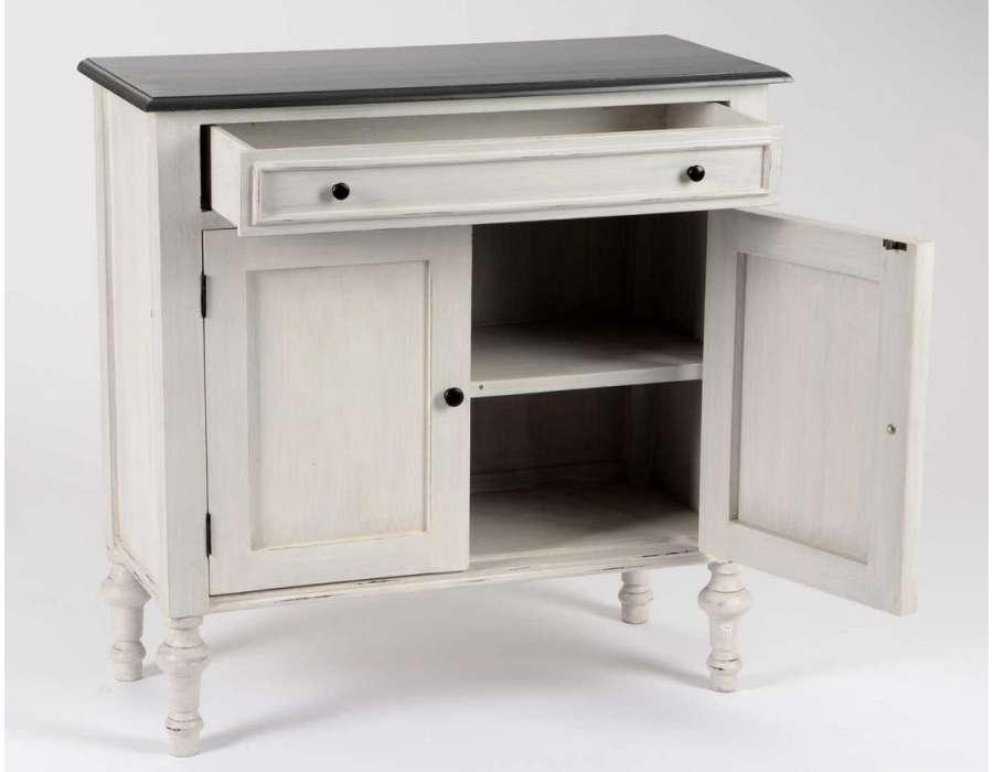 buffet gris patin pas cher marque amadeus. Black Bedroom Furniture Sets. Home Design Ideas