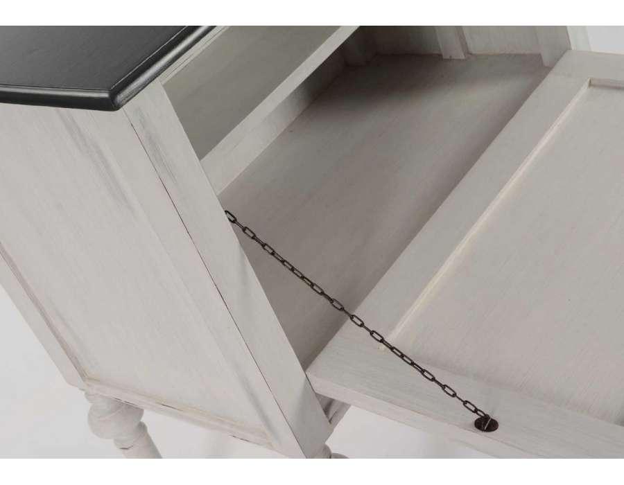 Meuble bar gris atin pas cher marque amadeus - Meubles amadeus soldes ...