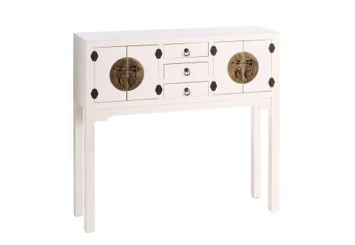 Console chinoise blanche 4 portes