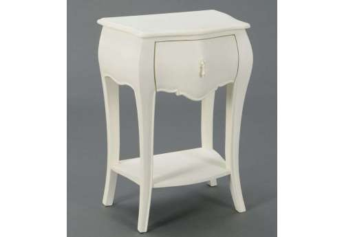 Table de nuit baroque blanche 1t