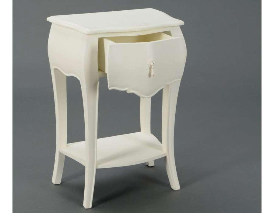 Table de nuit baroque cr me 1 tiroir - Table de nuit baroque ...