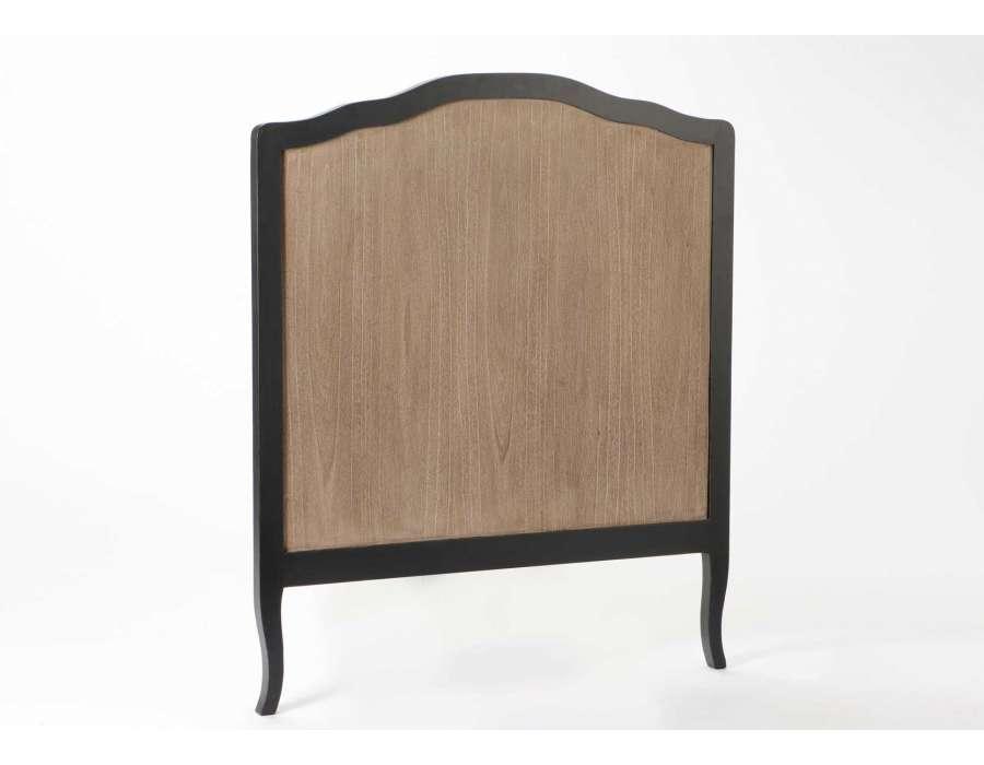 tete de lit baroque grise et bois 90 cm romantique. Black Bedroom Furniture Sets. Home Design Ideas