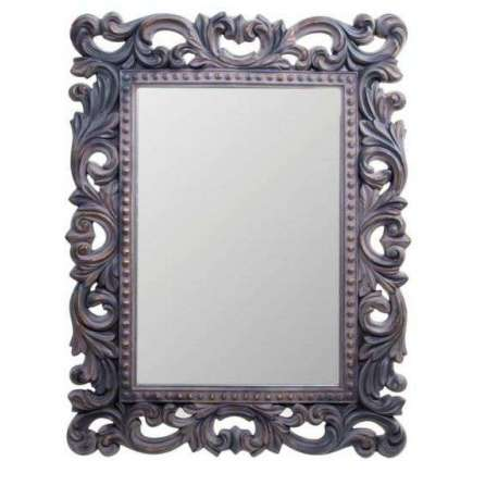 Miroir baroque noir rectangulaire maison design for Miroir long noir