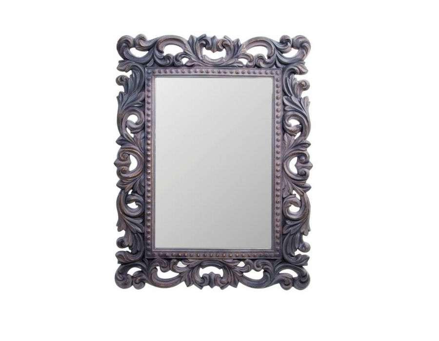 Miroir noir baroque miroir de style baroque xixeme for Acheter miroir baroque