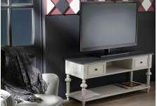 Meuble télé gris avec niches Oeillet