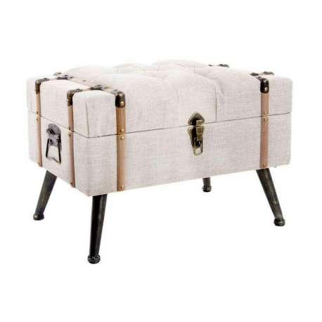 Banquette capitonnée valise en lin