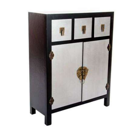 buffet japonais noir et argent pas cher. Black Bedroom Furniture Sets. Home Design Ideas