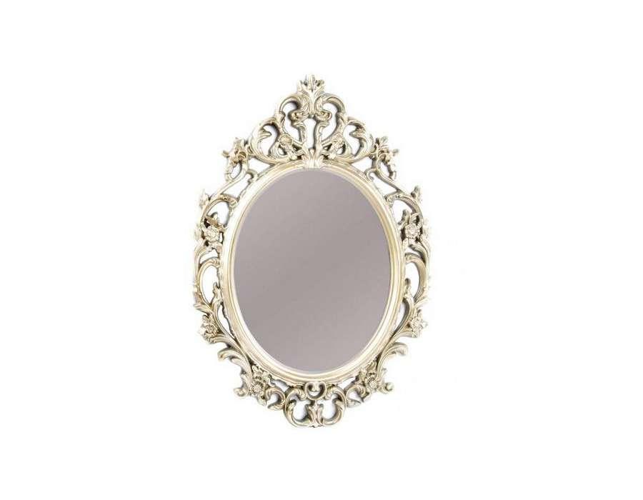 Miroir Baroque Dore Sculpte