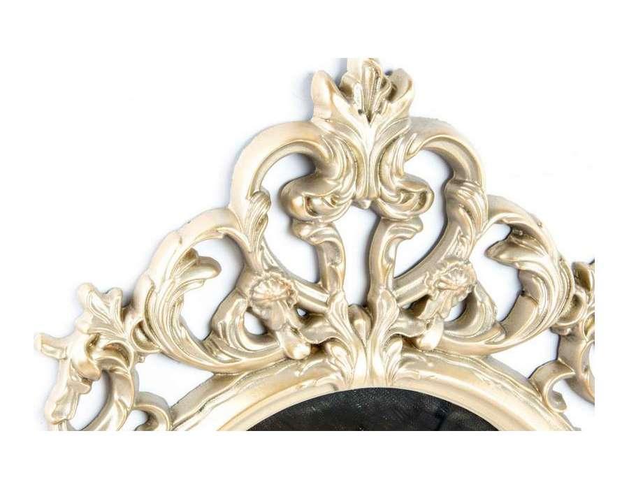 Miroir romantique argent sculpté Juliette