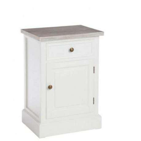 Chevet blanc avec une porte pas cher - Table de chevet blanche ...