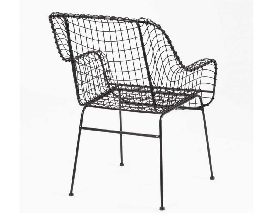 Chaise Design Metal Grillage Design
