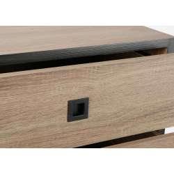 Chiffonnier métal et aspect bois