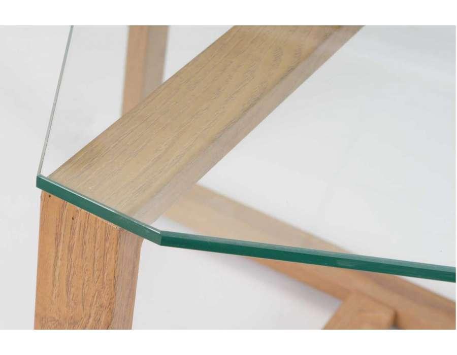 Table basse verre et bois design pas chere - Table basse pas chere design ...