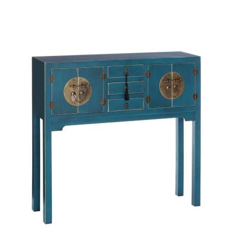 console chinoise bleue meuble chinois pas cher. Black Bedroom Furniture Sets. Home Design Ideas