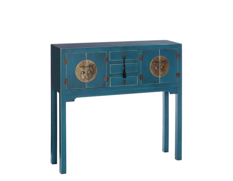 Console chinoise bleue 90 cm