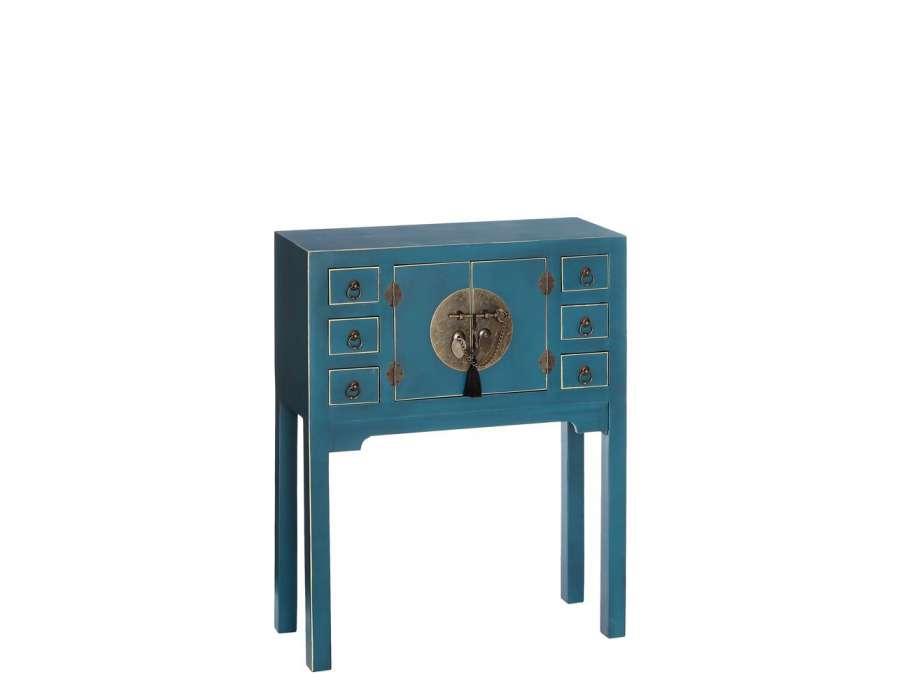 Petite console chinoise verte 1 porte