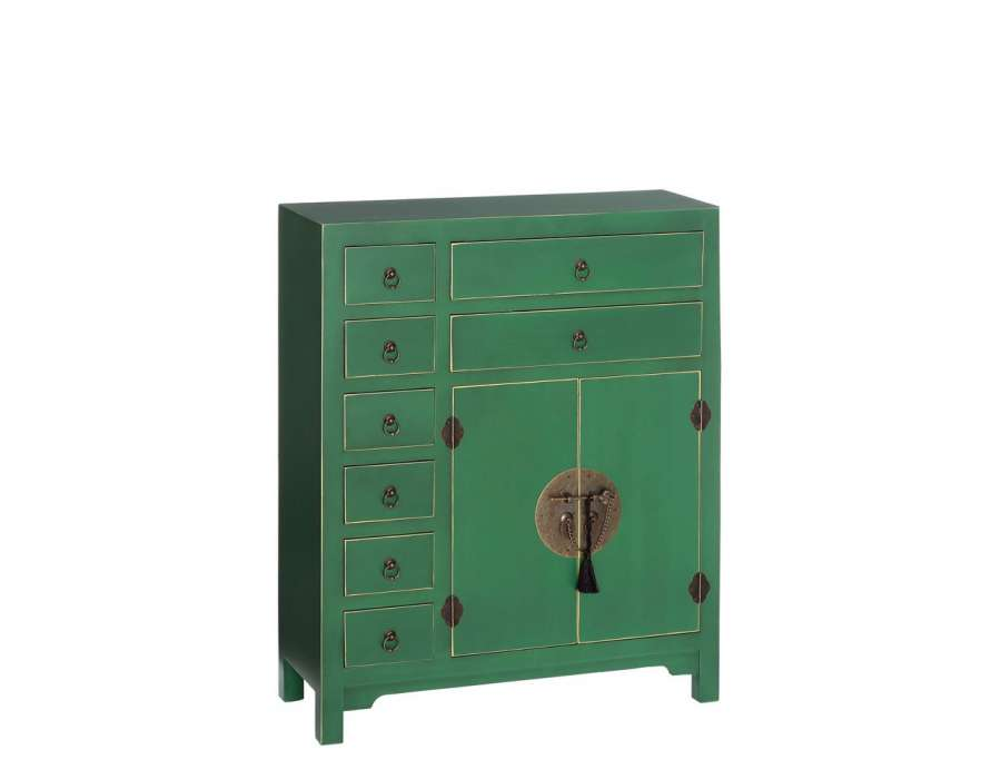 Meuble appoint chinois vert meuble chinois pas cher for Meuble buffet japonais