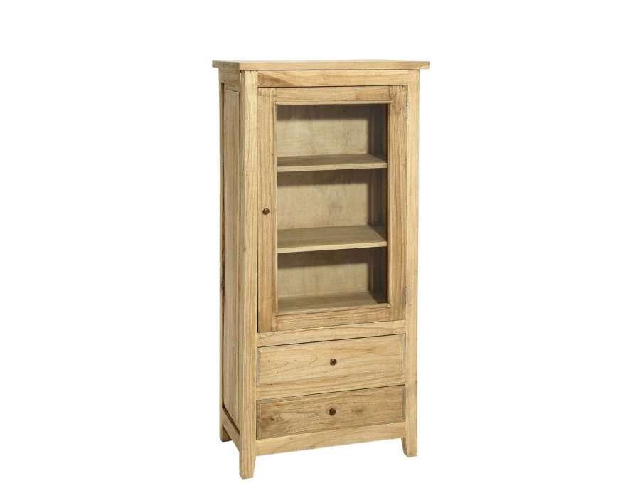 Armoire 1 porte en bois robuste naturel - Armoire bois naturel ...