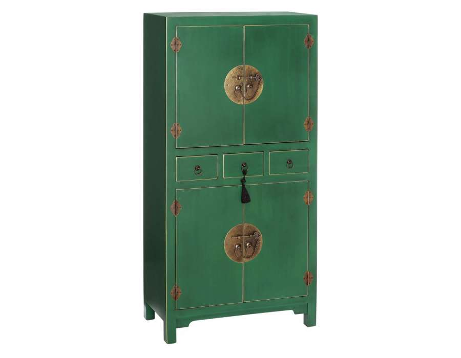 armoire verte style chinois pour une chambre. Black Bedroom Furniture Sets. Home Design Ideas