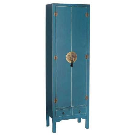 Armoire chinoise bleue, meuble de rangement chinois