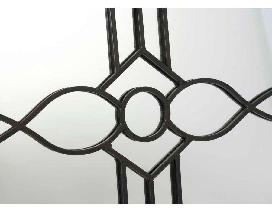 Miroir de décoration en fer noir