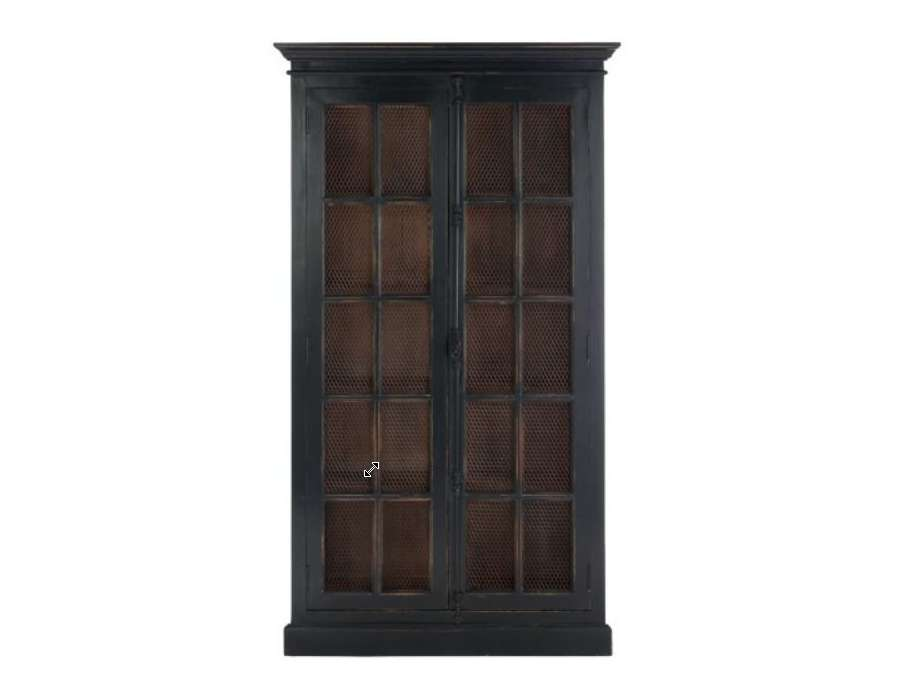 garde manger bois noir ancien proven al. Black Bedroom Furniture Sets. Home Design Ideas