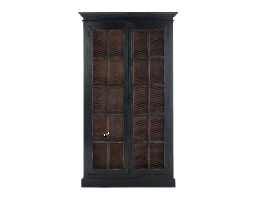 garde manger bois noir ancien proven al. Black Bedroom Furniture Sets. Home Design Ideas